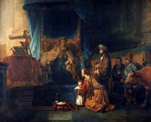 Hannah presents Samuel to Eli at the temple. (Gerbrand van den Eeckhout)